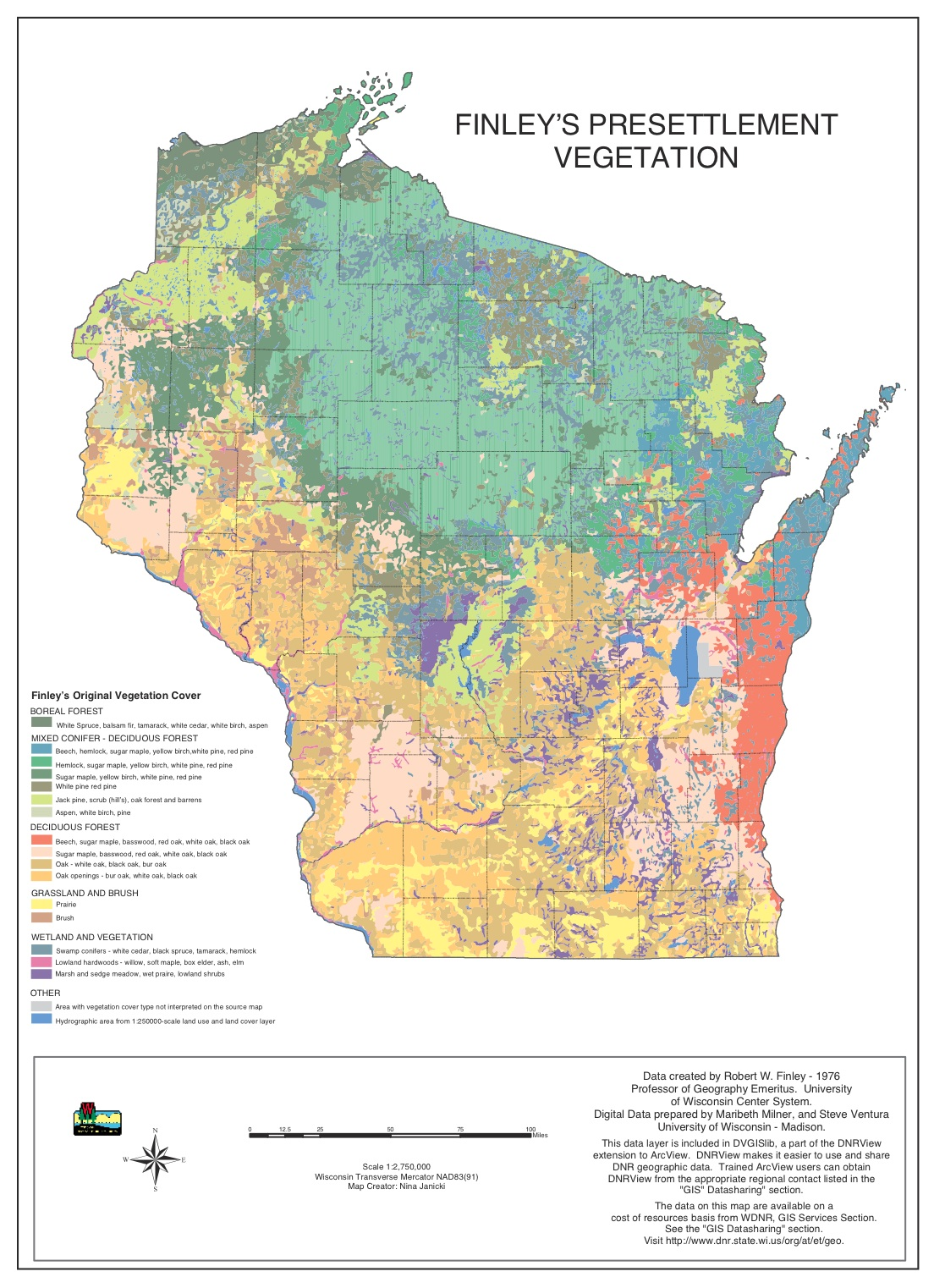 Maps Learning Historical Research Vegetation Map Us