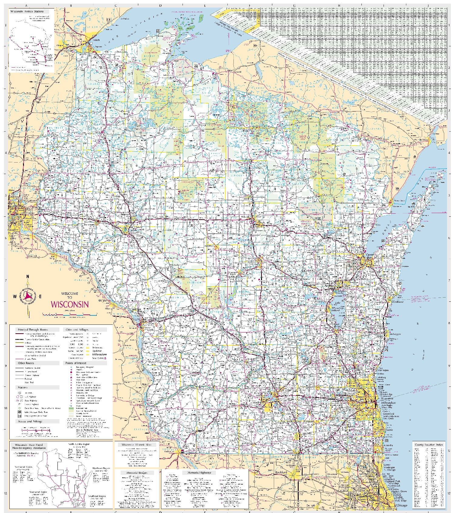 Maps Learning Historical Research - Wisconsin state map of us